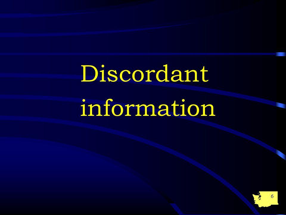 6 Discordant information