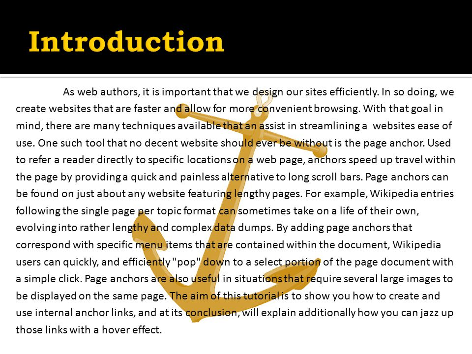 As web authors, it is important that we design our sites efficiently.