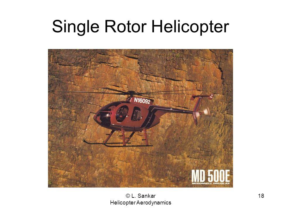 © L. Sankar Helicopter Aerodynamics 18 Single Rotor Helicopter