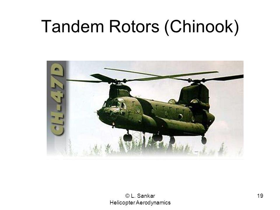 © L. Sankar Helicopter Aerodynamics 19 Tandem Rotors (Chinook)