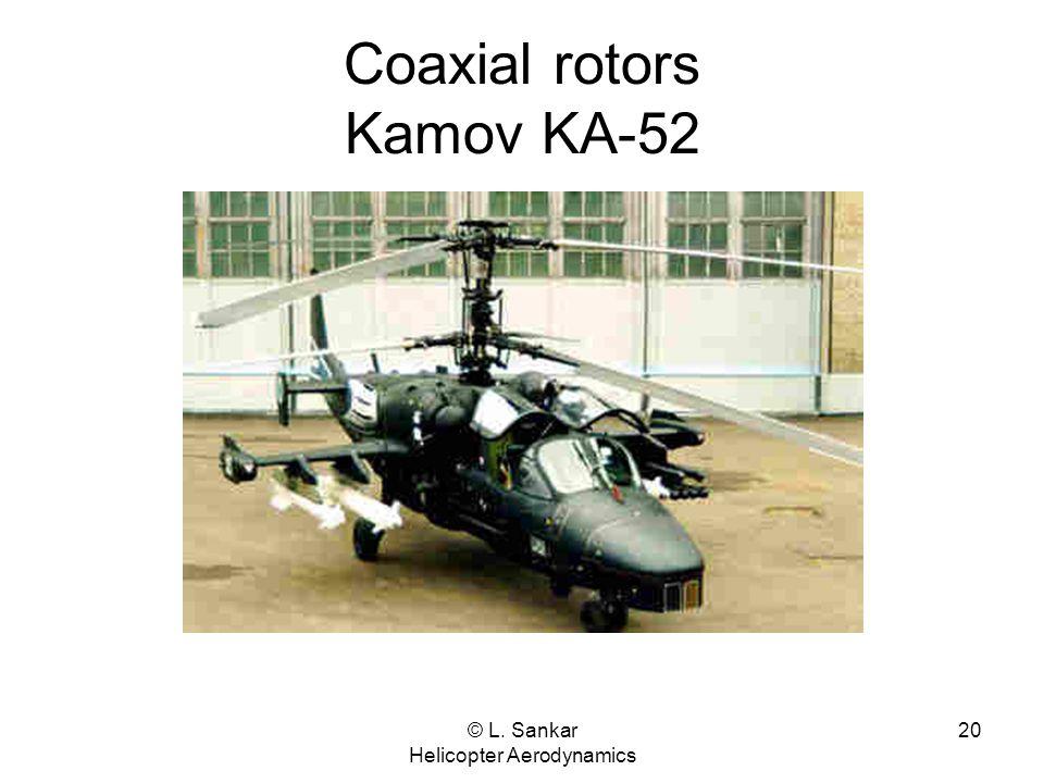© L. Sankar Helicopter Aerodynamics 20 Coaxial rotors Kamov KA-52