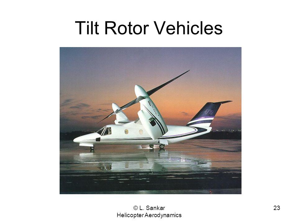 © L. Sankar Helicopter Aerodynamics 23 Tilt Rotor Vehicles