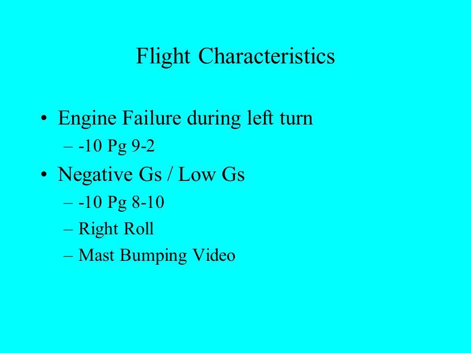 Autorotations Blade Regions Descent Rates/Rotor RPM –-10 Pg 9-11 HV Diagram –-10 Pg 9-13 –FM 1-203 Pg 6-50