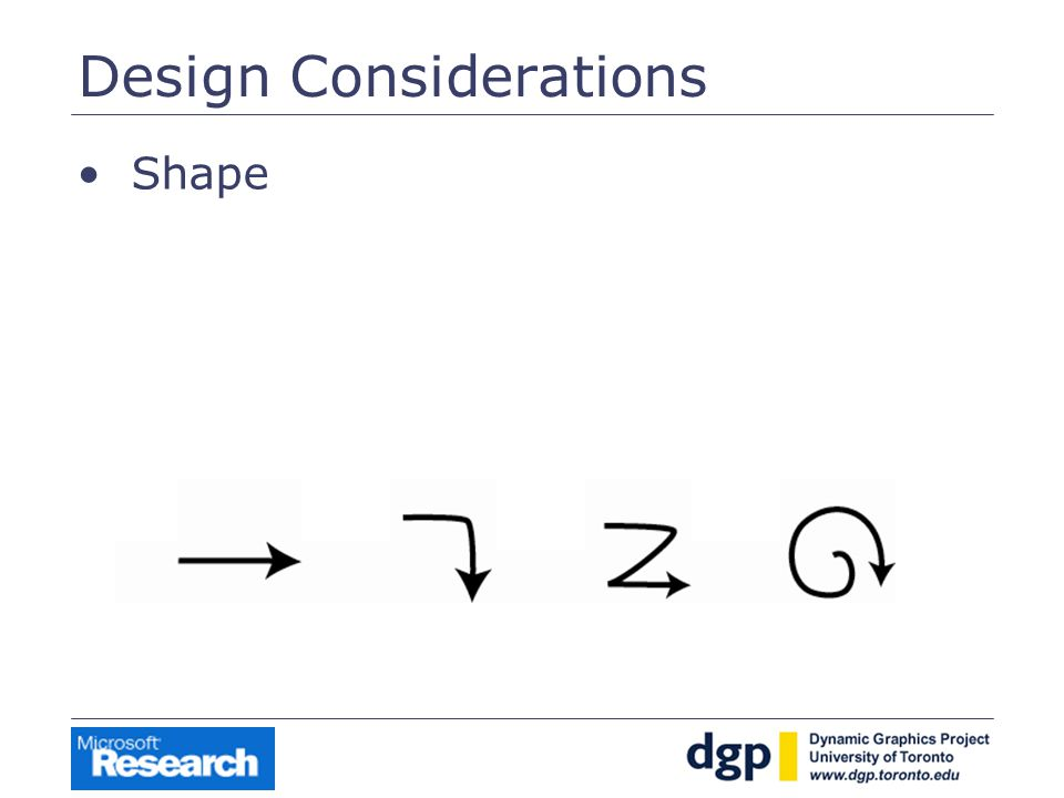 Design Considerations Shape