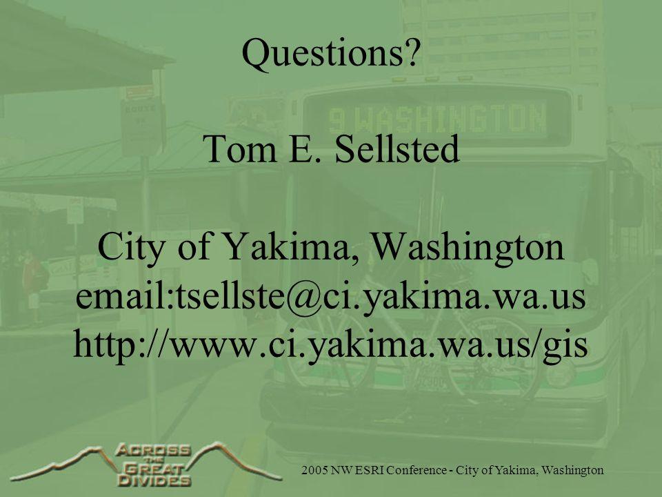 Questions. Tom E.