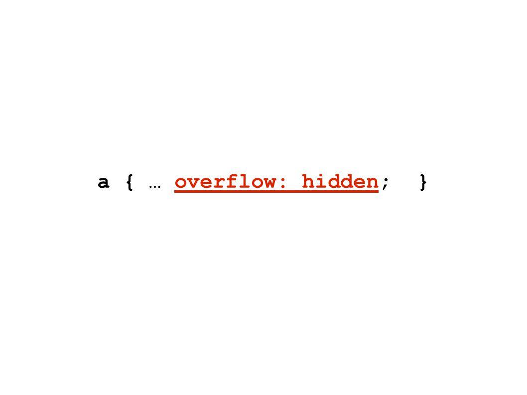 a { … overflow: hidden; }