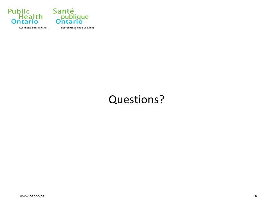 www.oahpp.ca Questions 14