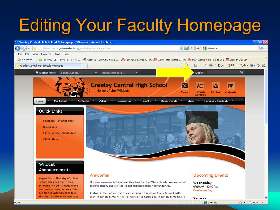 Editing Your Faculty Homepage