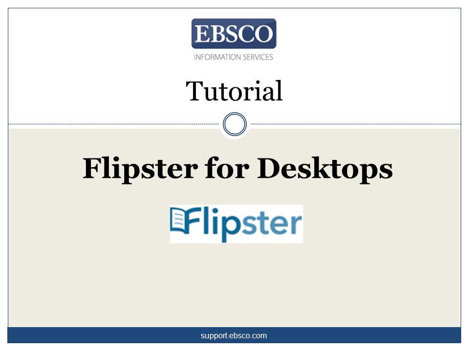 Welcome to EBSCO's Flipster for desktop computers tutorial.