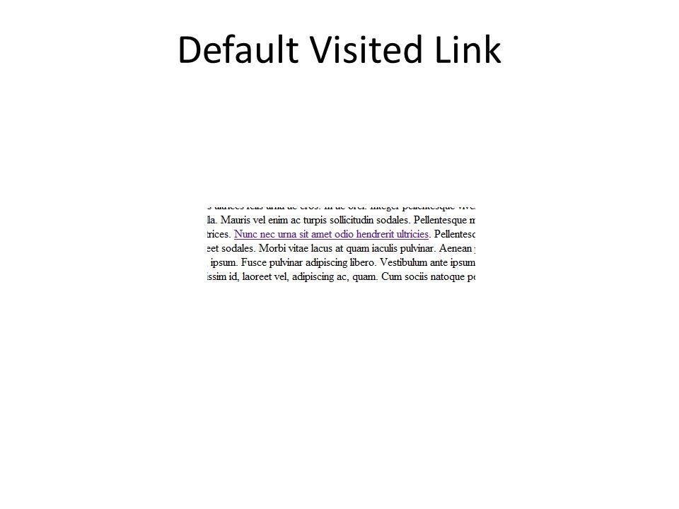 Default Visited Link