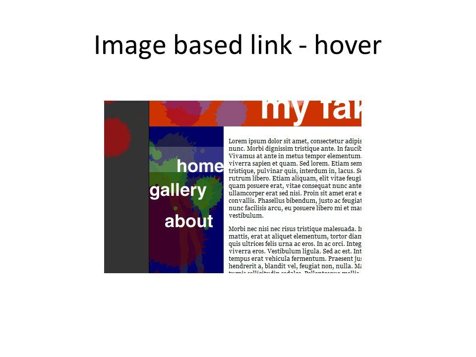 Image based link - hover