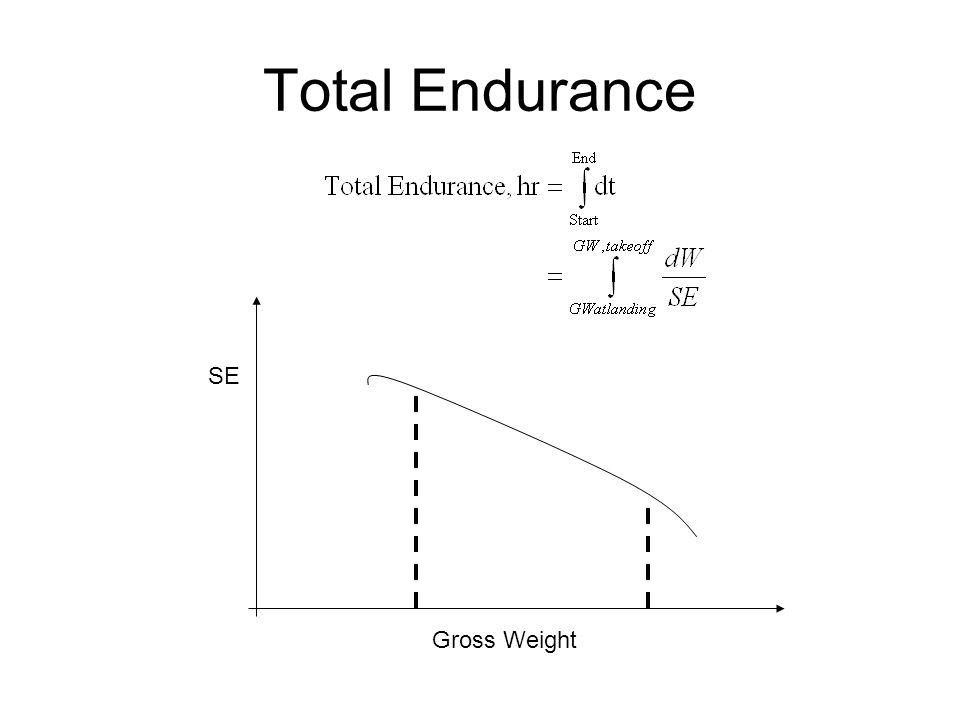 Total Endurance Gross Weight SE