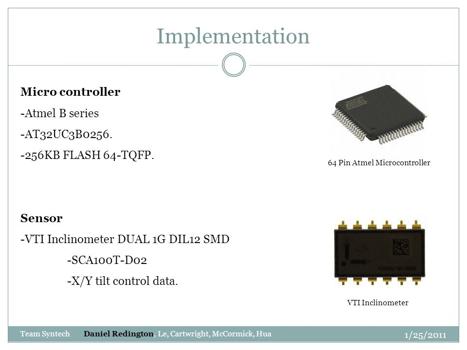 Implementation Micro controller -Atmel B series -AT32UC3B0256.