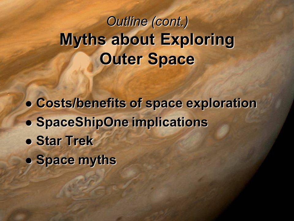 Outline Misconceptions about Exploring Outer Space Gravity Gravity Living in space Living in space Rockets Rockets Atmospheric entry Atmospheric entry Space solar power Space solar power
