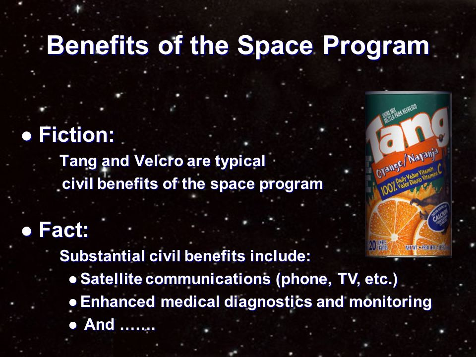 $ $ $ $ How expensive is the space program.
