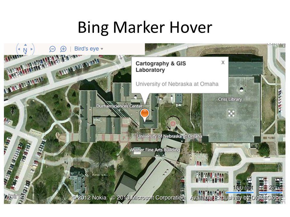 Bing Marker Hover