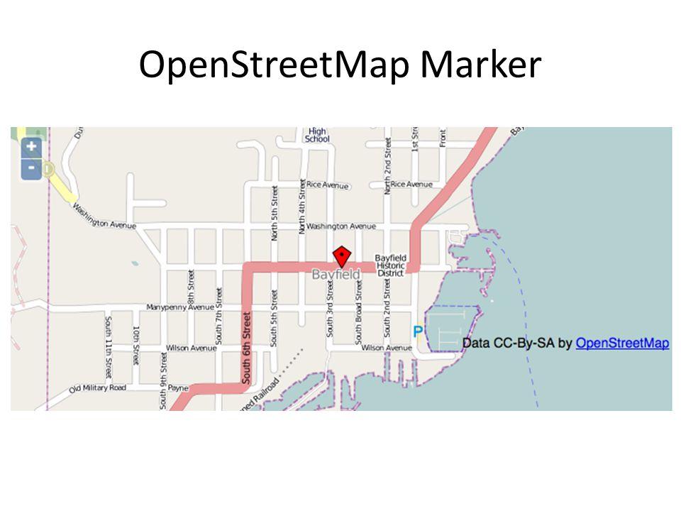 OpenStreetMap Marker