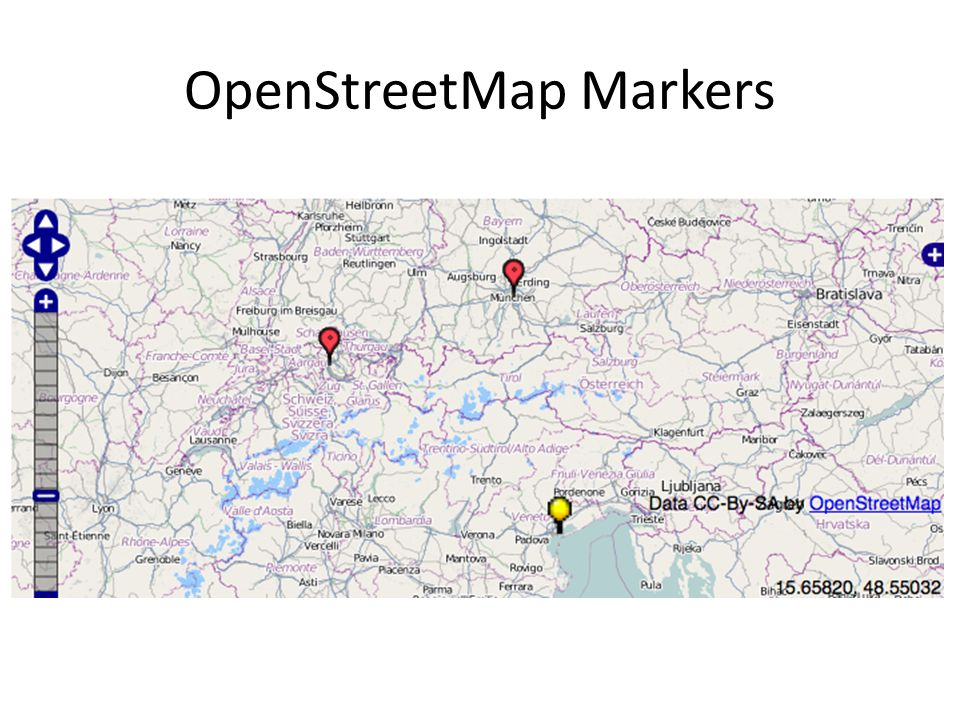 OpenStreetMap Markers