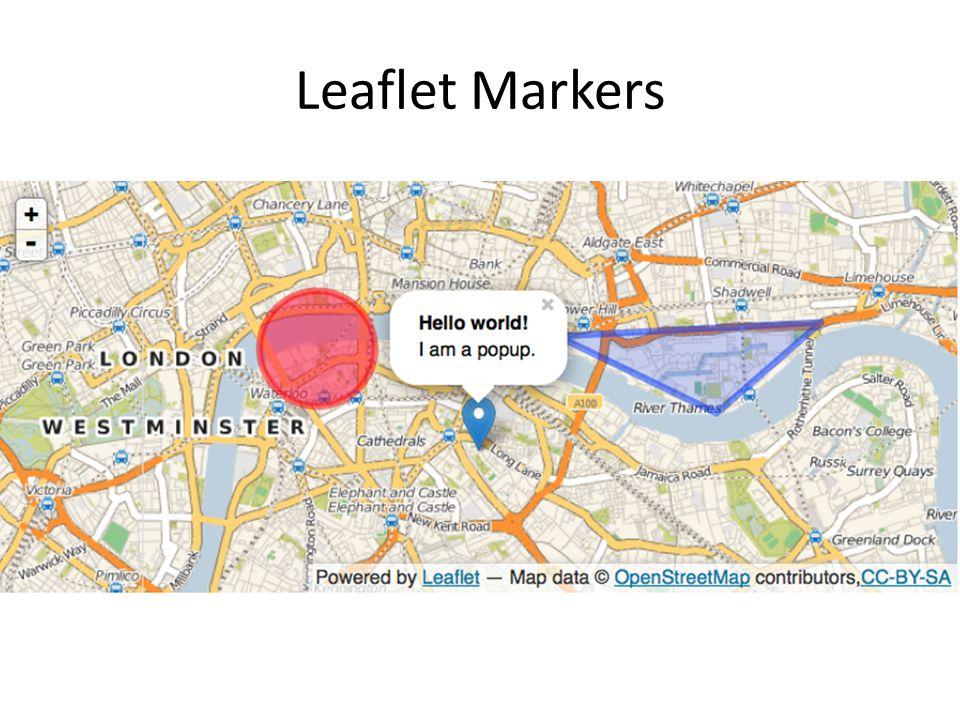 Leaflet Markers
