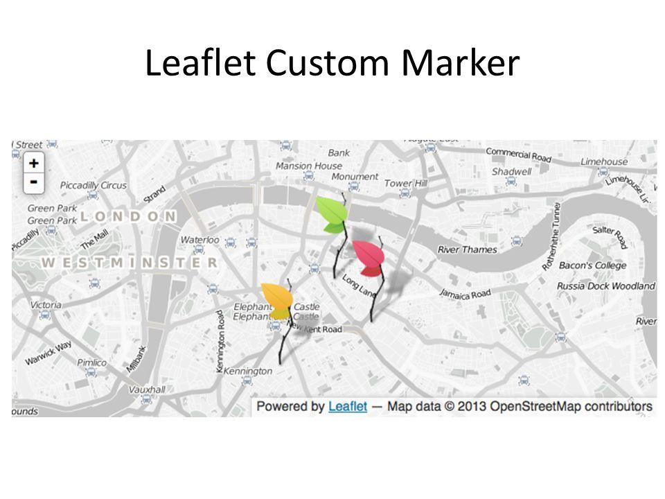 Leaflet Custom Marker