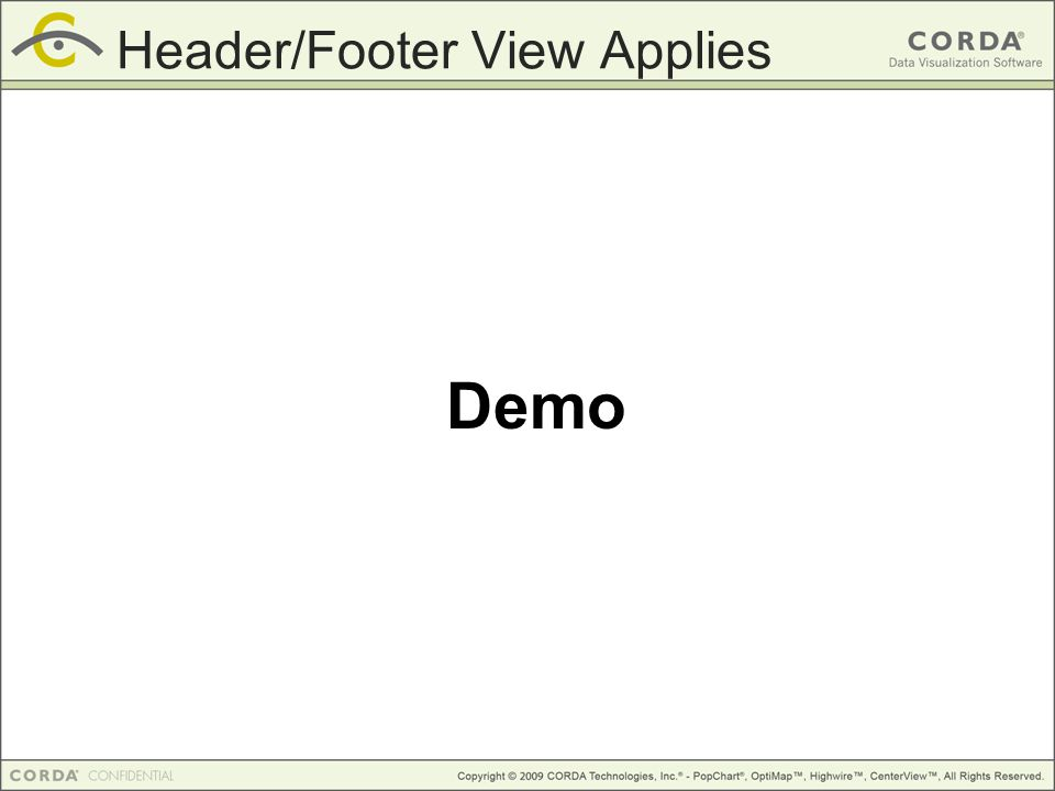 Demo Header/Footer View Applies
