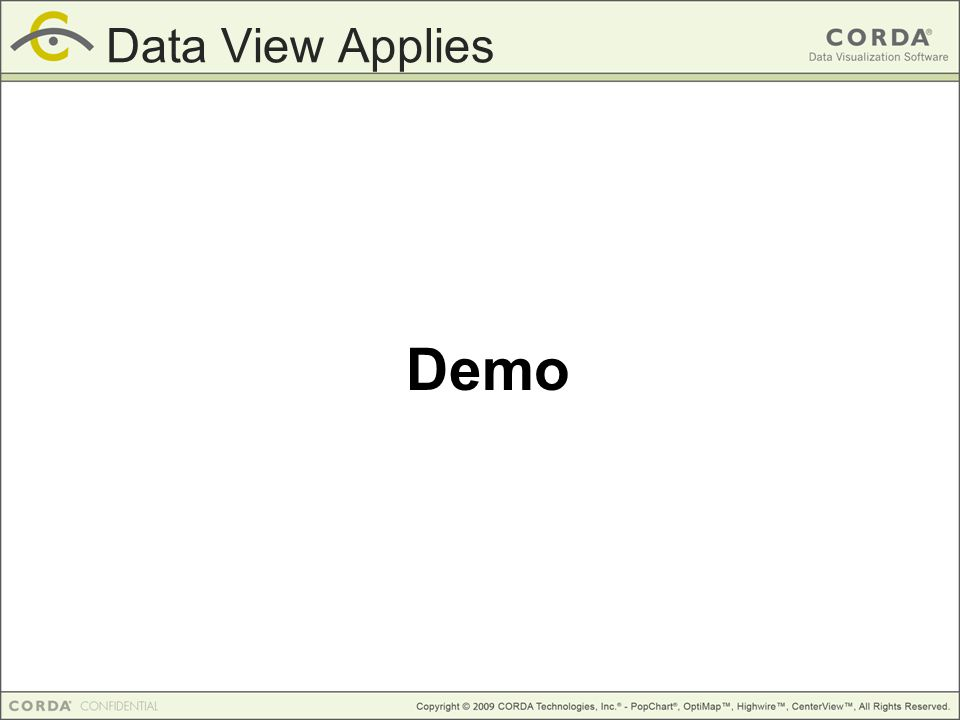 Demo Data View Applies