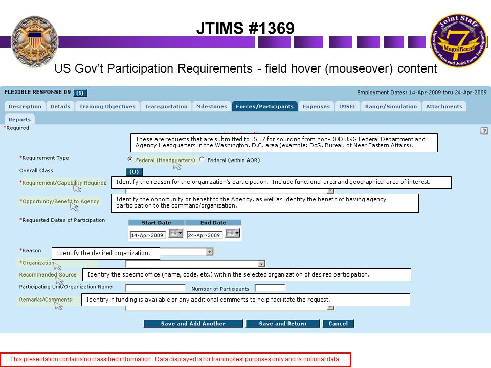The Interagency Provider Filters allow the user to query for selected organizations/ sources for a given timeframe.