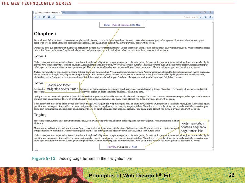 Principles of Web Design 5 th Ed. 26
