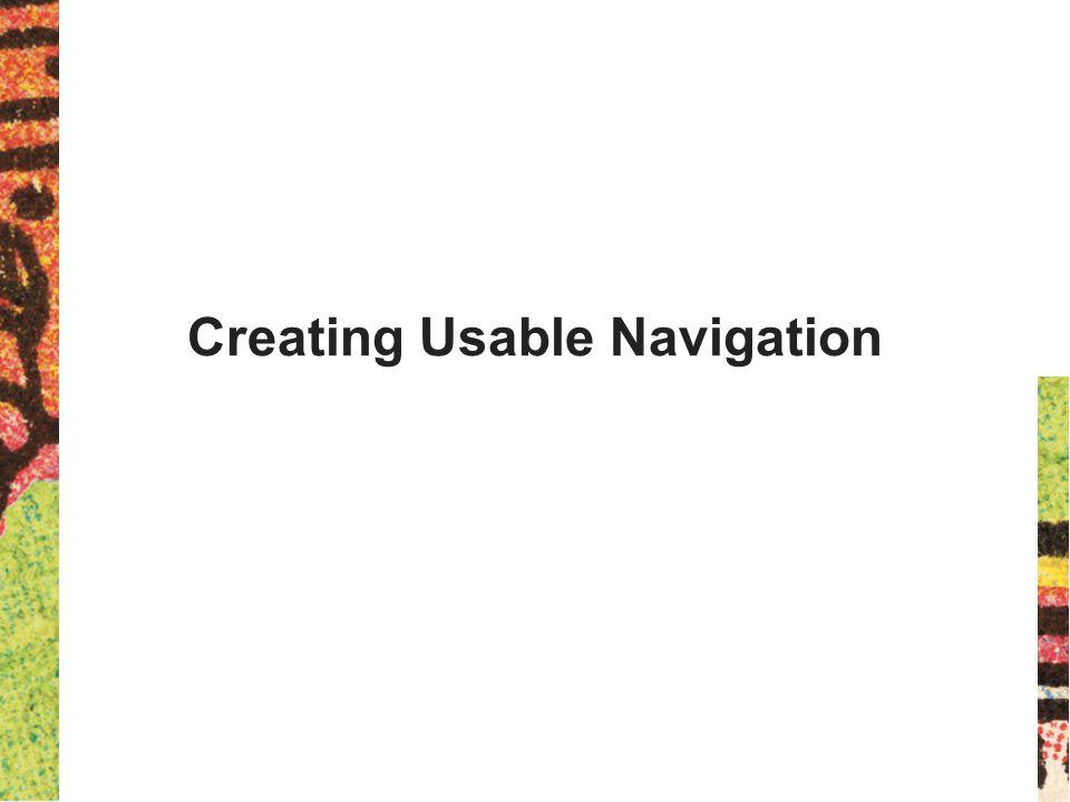 Creating Usable Navigation