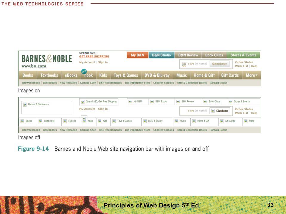 Principles of Web Design 5 th Ed. 33