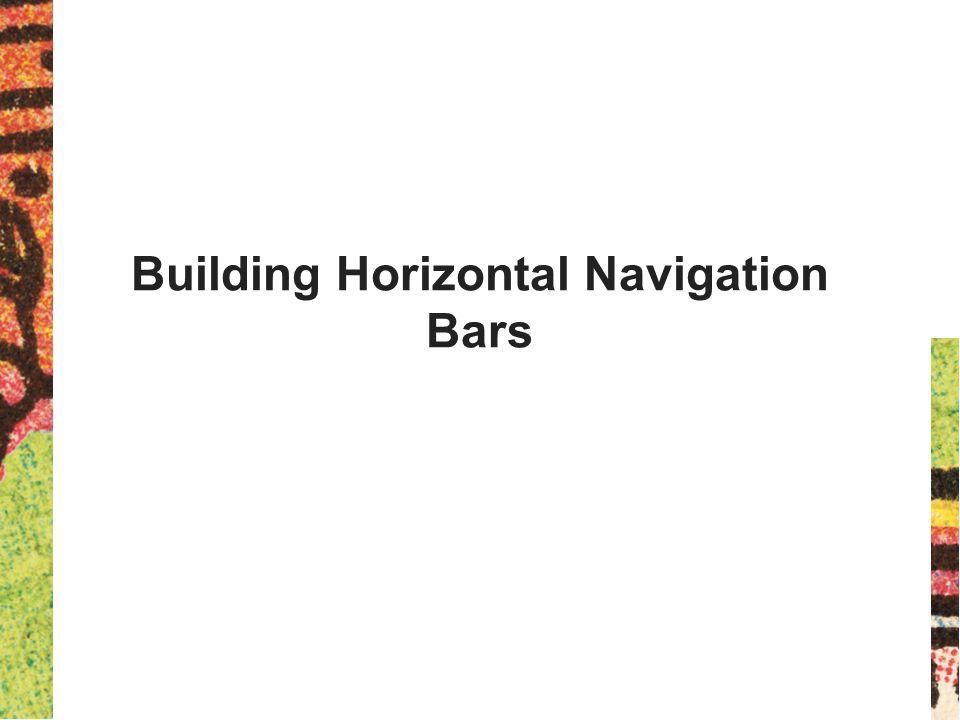 Building Horizontal Navigation Bars