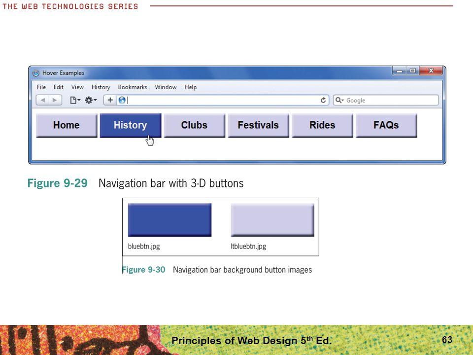 Principles of Web Design 5 th Ed. 63