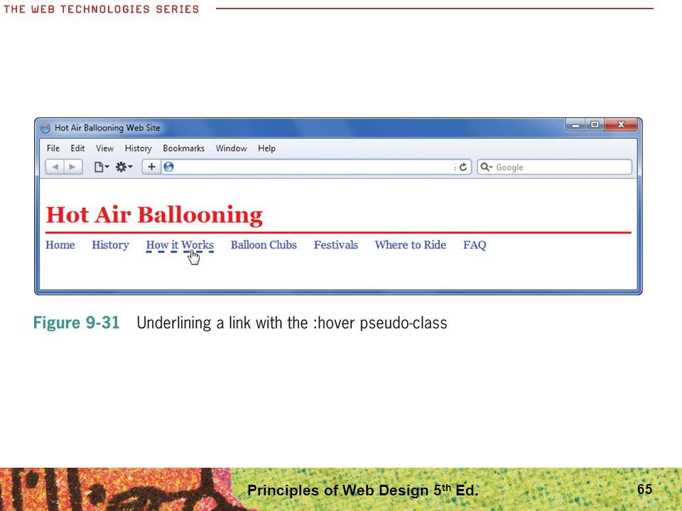 Principles of Web Design 5 th Ed. 65