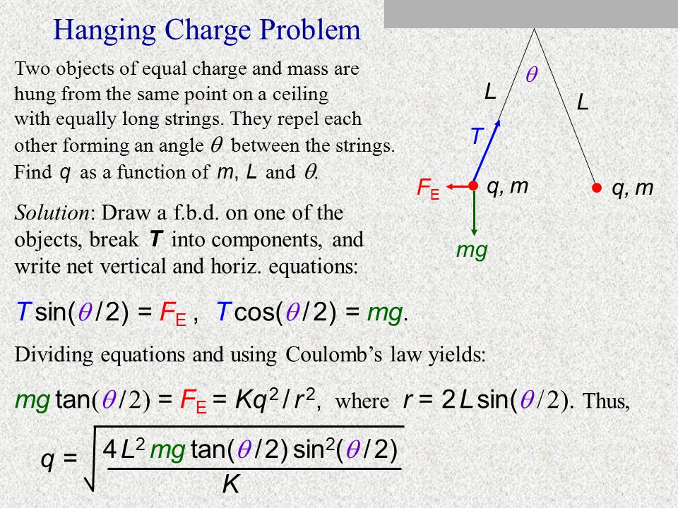 System of 4 Charges -16 µC +9 µC-7 µC +25 µC 3 cm 4 cm A B C D Here four fixed charges are arranged in a rectangle. Find F net on charge D. Solution: