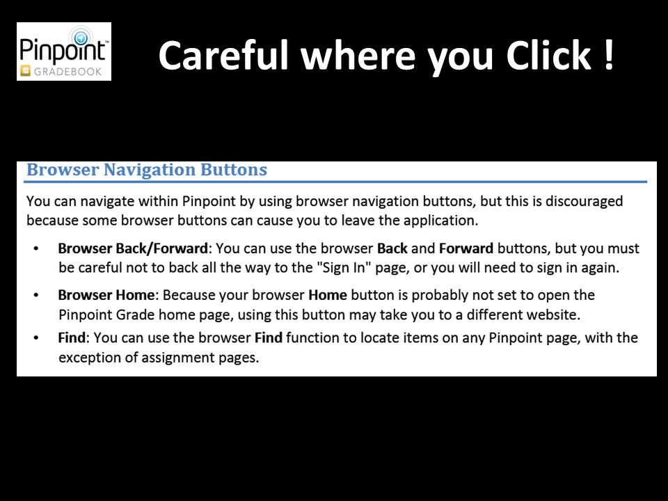 Careful where you Click !