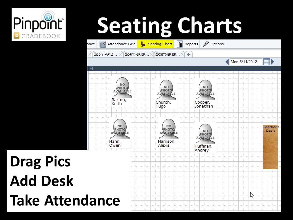 Seating Charts Drag Pics Add Desk Take Attendance