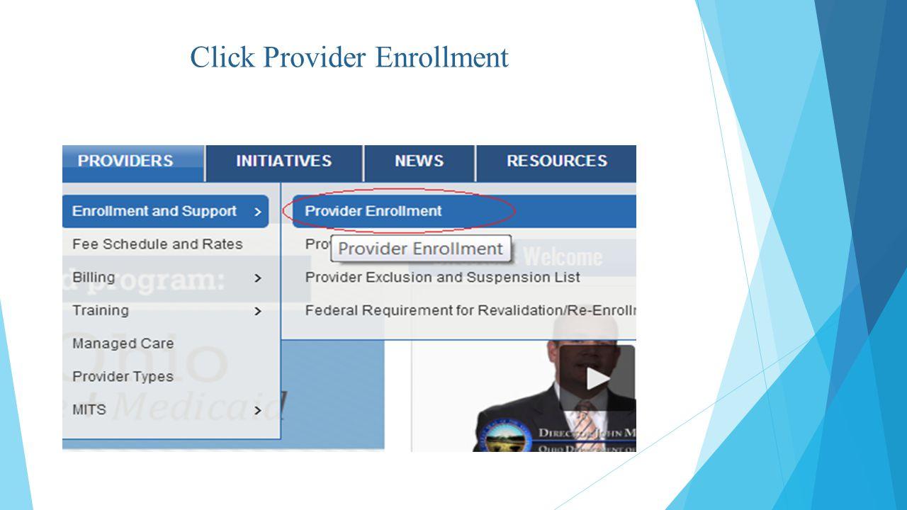 Click Provider Enrollment