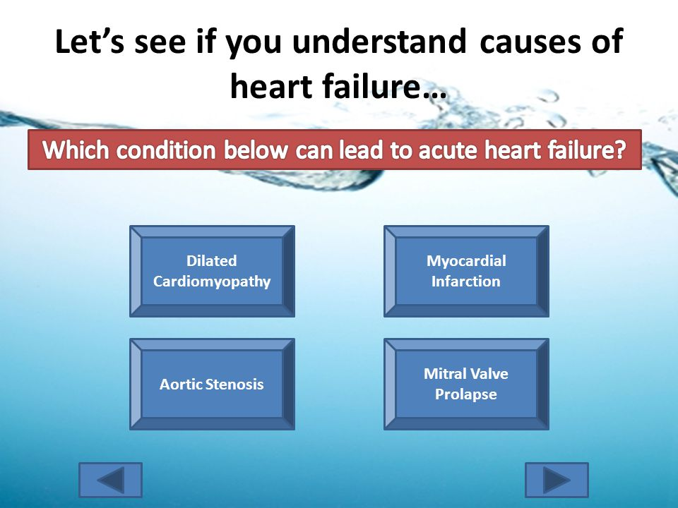 Let's see if you understand causes of heart failure… Try Again.