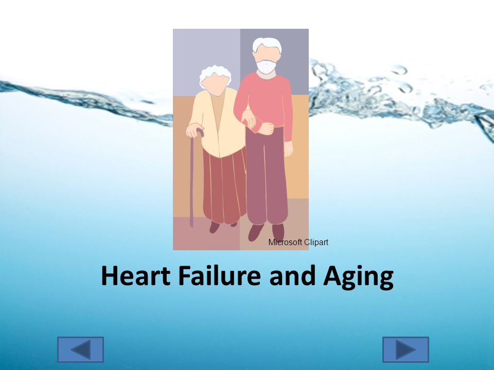 Heart Failure and Aging Microsoft Clipart