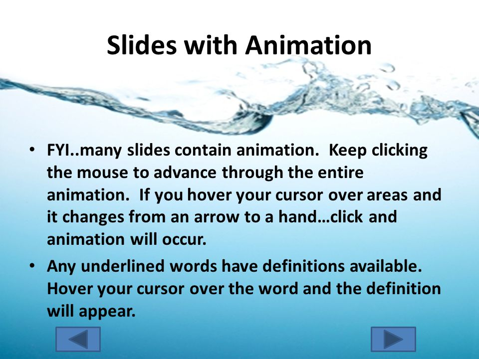 Slides with Animation FYI..many slides contain animation.