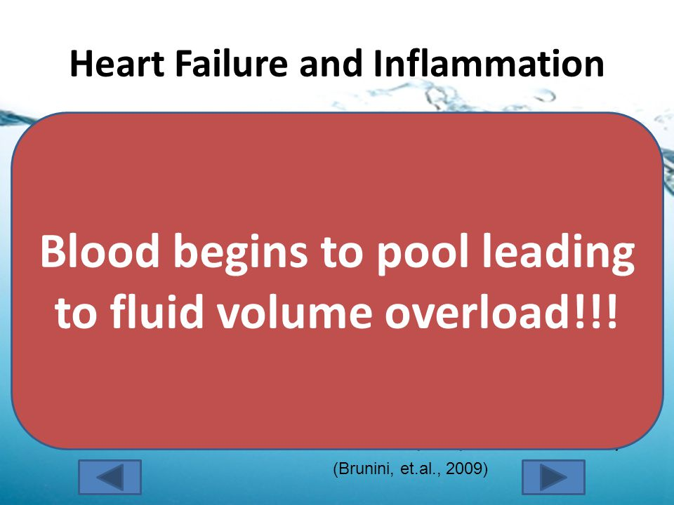 Heart Failure and Inflammation Inflammatory mediators (such as nitric oxide) are activated in a patient with heart failure in an effort to improve cardiac function.