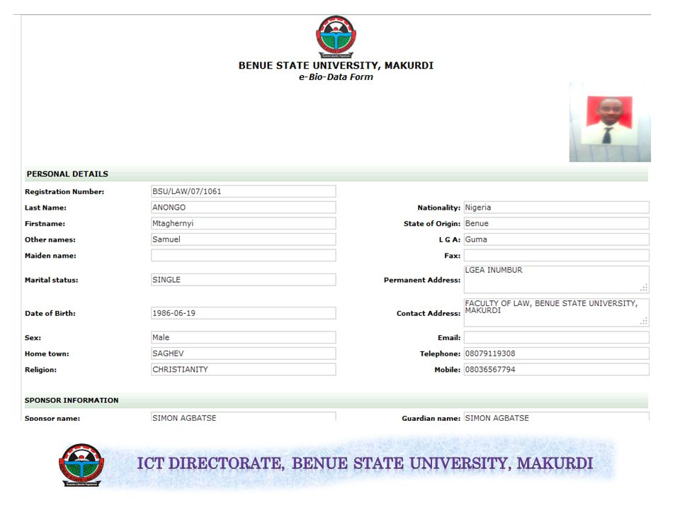 To print your bio data forms, click on Print Bio-Data