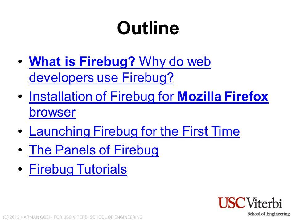 List of Useful Firebug Shortcuts FIREBUG TOOLBAR