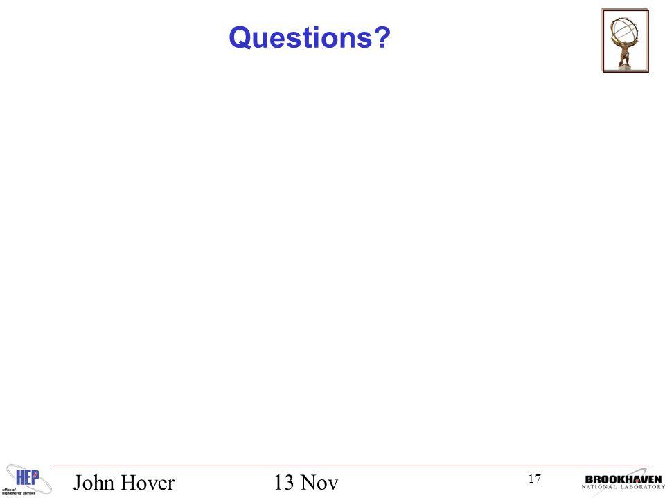 17 13 Nov 2012 John Hover Questions
