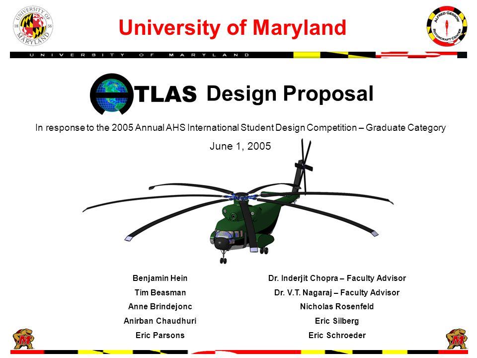 Design Proposal University of Maryland Benjamin HeinDr.