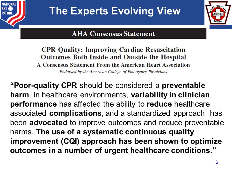 BRADY Poor-quality CPR should be considered a preventable harm.