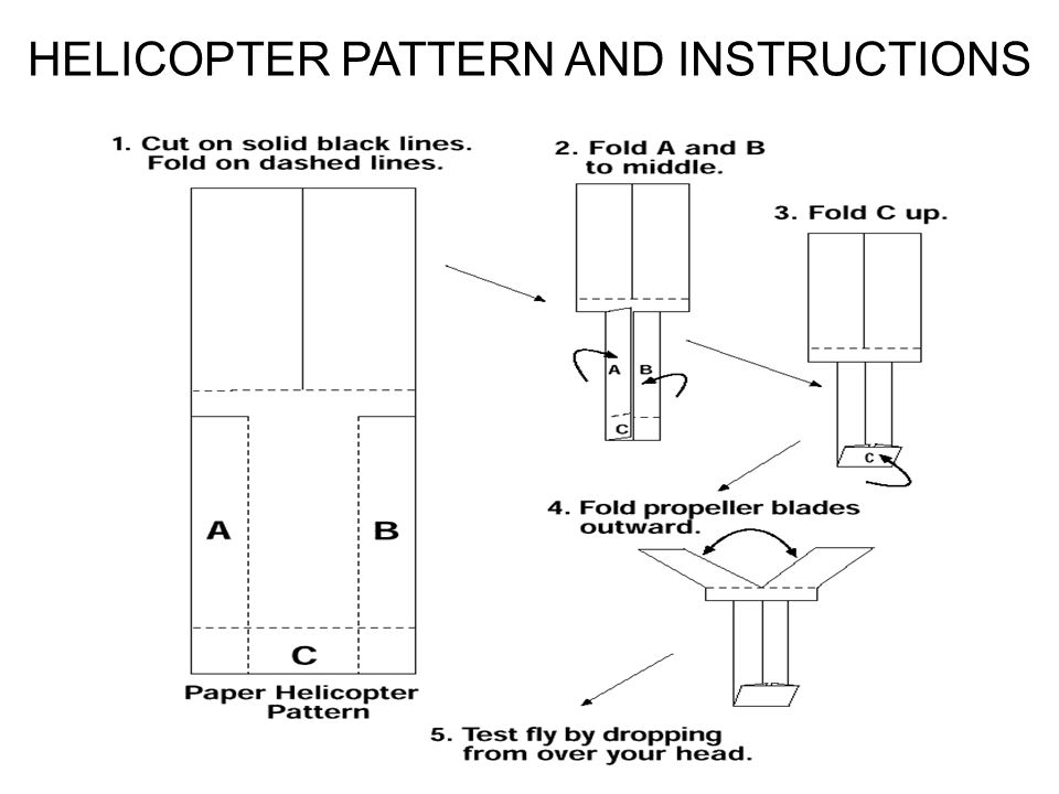 HELICOPTER PATTERN AND INSTRUCTIONS