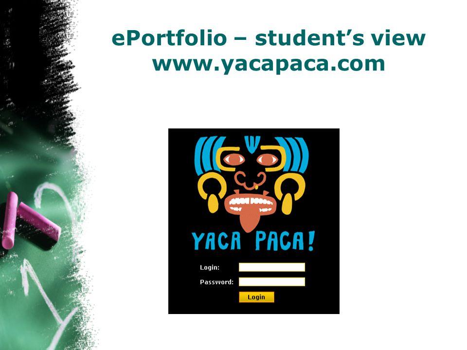 ePortfolio – student's view www.yacapaca.com