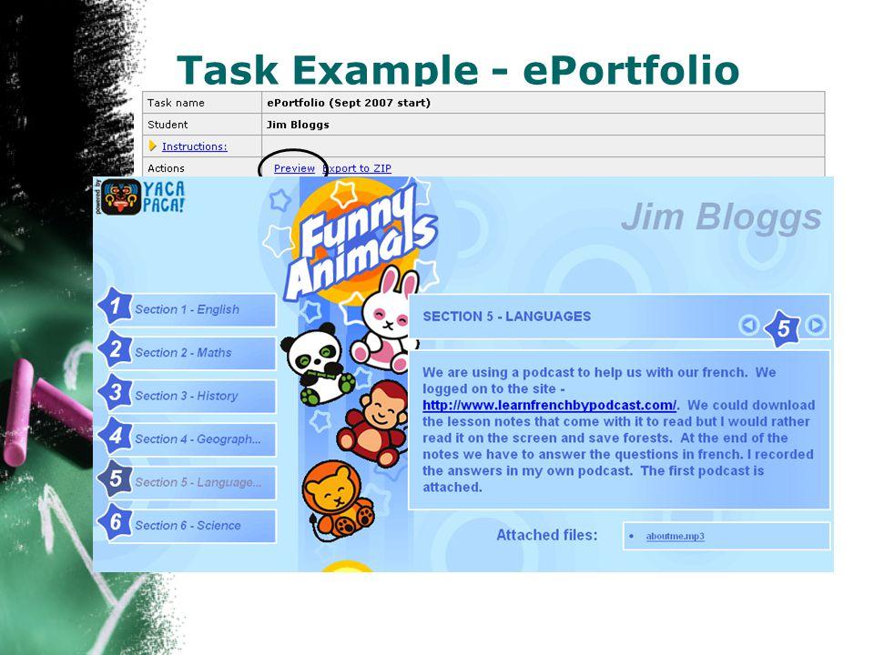 Task Example - ePortfolio