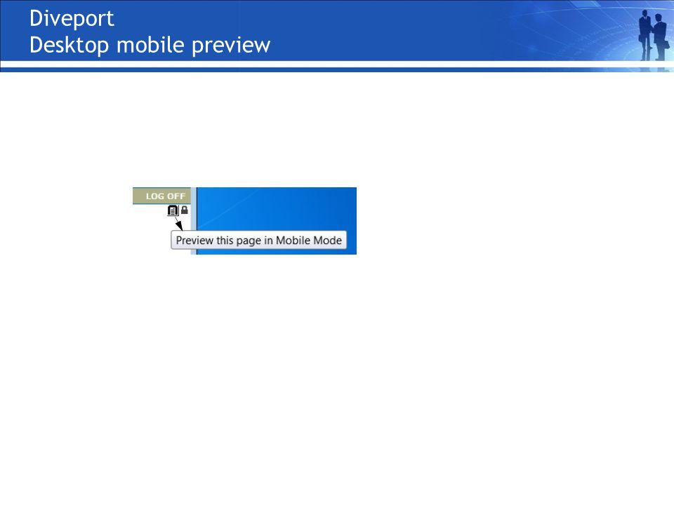 Diveport Desktop mobile preview